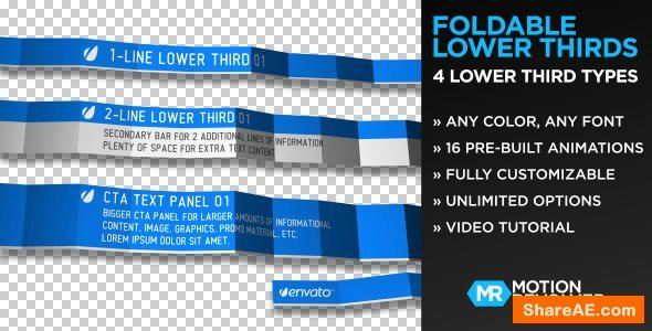 Videohive Foldable Lower Thirds
