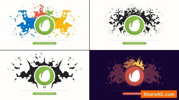 Videohive Minimal Paint Splatter Art Logo Reveal