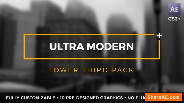 Videohive Ultra Modern Titles and Lower Thirds