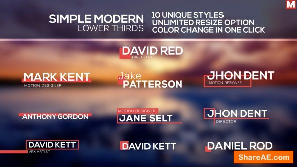 Videohive Simple Modern Lower Thirds