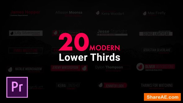 Videohive Modern Lower Thirds - Premiere Pro