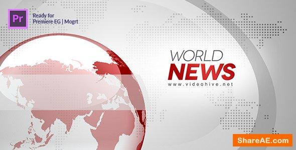 Videohive Broadcast News Essential Graphics | Mogrt - Premiere Pro