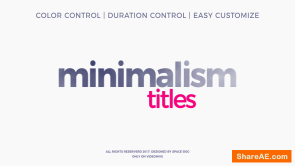 Videohive Minimalism