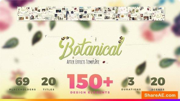 Videohive Botanical Slideshow - Wedding, Love Story, Family Album