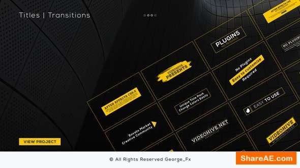 Videohive Titles & Transitions