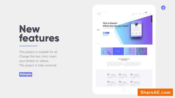 Videohive Tablet Presentation Pack