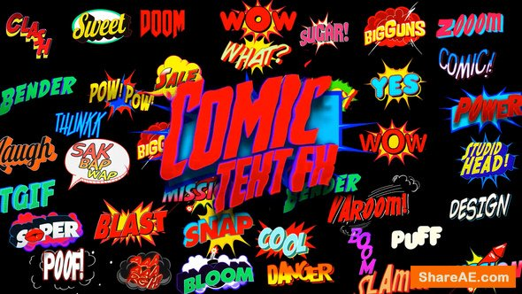 Videohive Comic Text FX