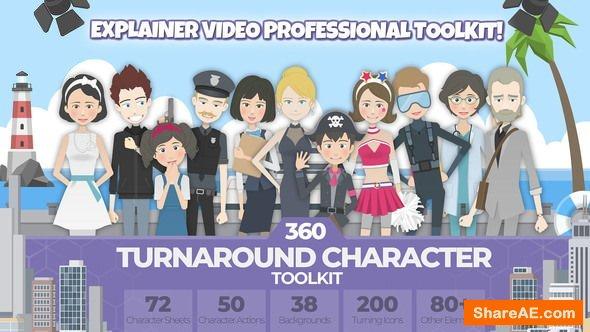 Videohive 360 Turnaround Character Toolkit