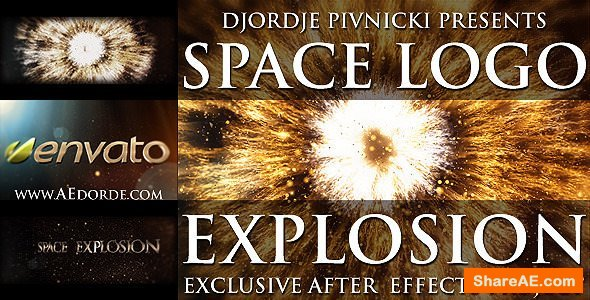 Videohive Space Logo Explosion