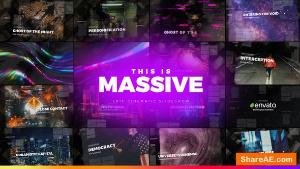 Videohive Massive - Epic Cinematic Slideshow