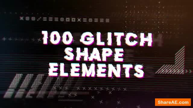 Glitch Elements Pack (Motion Array)