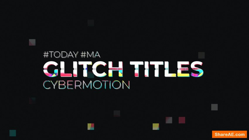 Glitch Titles (Motion Array)