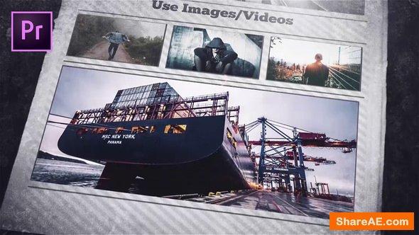 Videohive Newspaper Openers - Premiere Pro