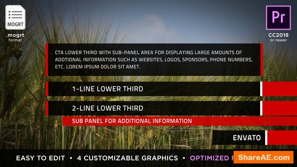 Videohive Clean Titles & Lower Thirds | MOGRT - Premiere Pro