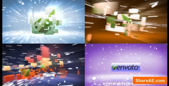 Videohive Flying Blocks