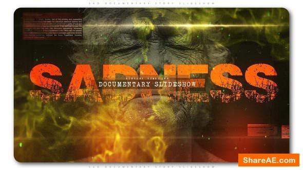 Videohive Sad Documentary Story Slideshow