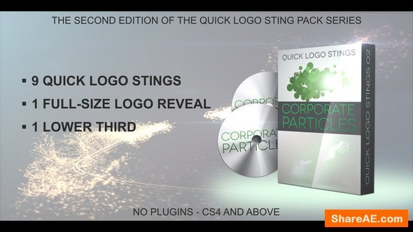 Videohive Quick Logo Sting Pack 02: Corporate Particles