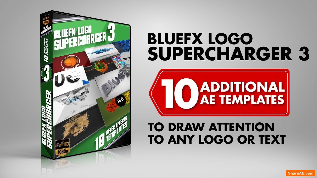 The Logo Supercharger Pack - 3 - After Effects Template (Bluefx)