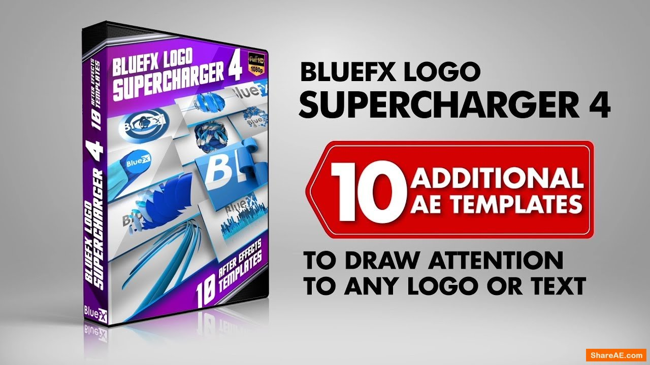 The Logo Supercharger Pack - 4 - After Effects Template (Bluefx)