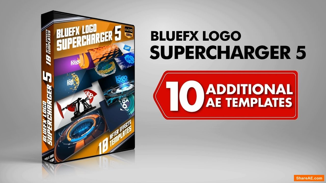 The Logo Supercharger Pack - 5 - After Effects Template (Bluefx)