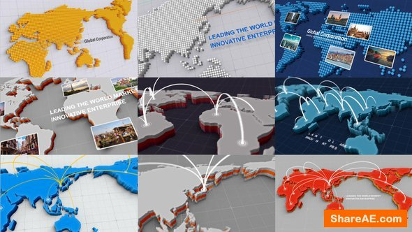 Videohive 3D World Map Kit