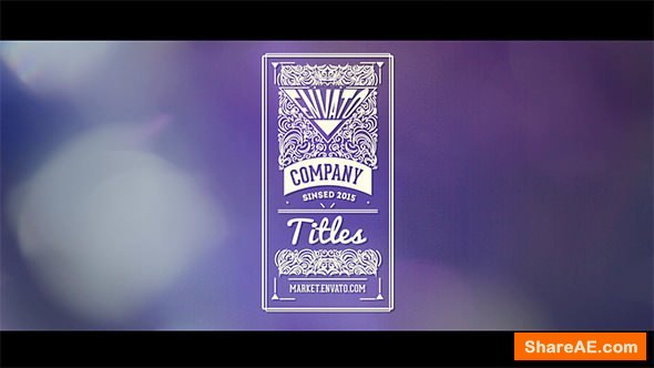Videohive Vintage Titles Pack