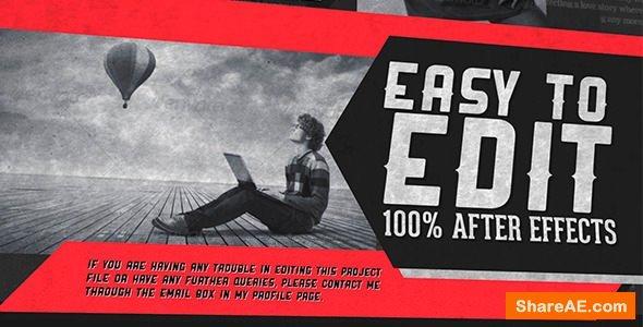 Videohive Retro Magazine Promo