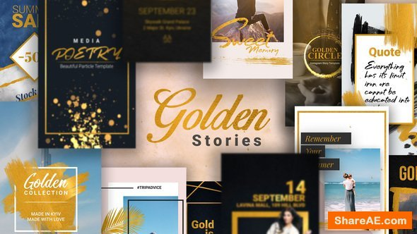 Videohive Golden Stories // Animated Stories for Instagram