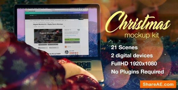 Videohive Christmas Mockup Kit