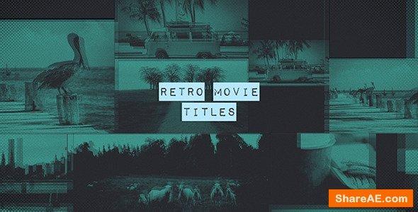 Videohive Retro Movie Titles
