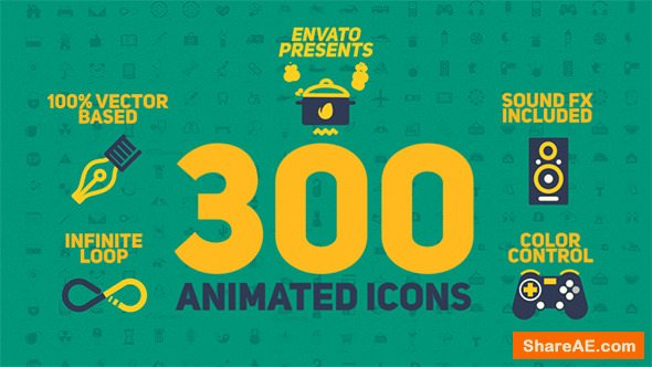 Videohive Animated Icons Pack