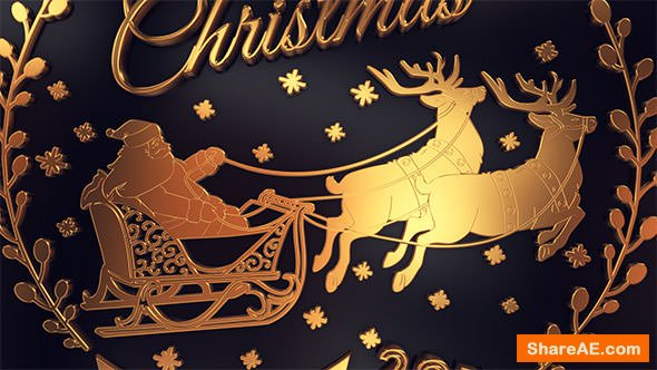 Videohive Gold Christmas Greetings