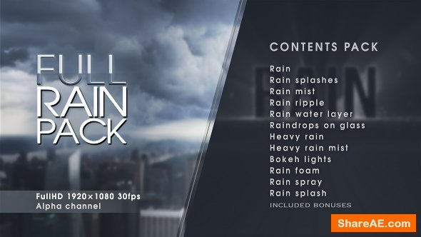 Videohive Rain - Motion Graphics