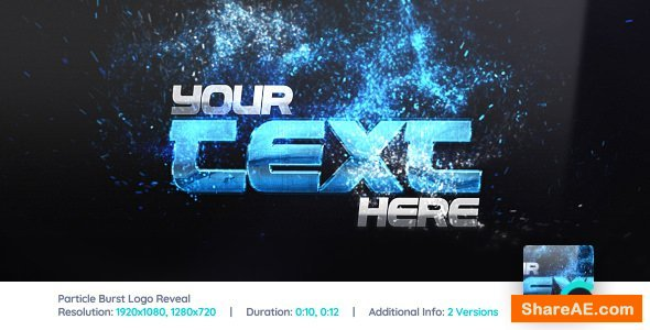Videohive Particle Burst Logo Reveal 1523651