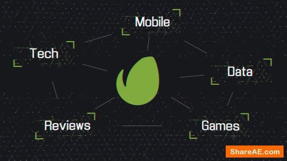 Videohive Tech Grid Logo