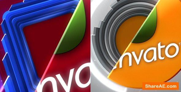 Videohive Square & Circular Logo Sting