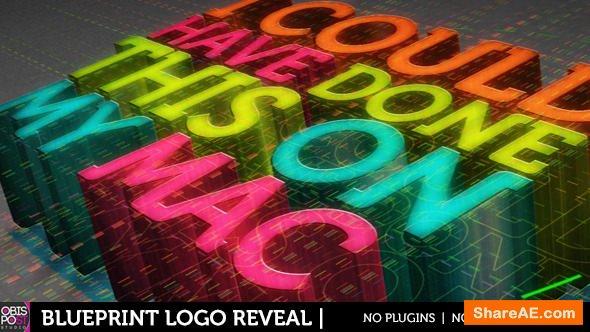 Videohive Blueprint Logo Revealer