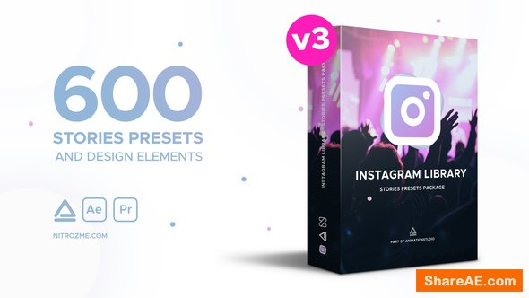Videohive Instagram Library - Stories Presets Package
