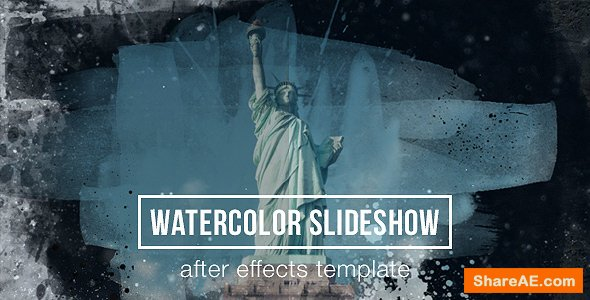 Videohive Watercolor Parallax Slideshow