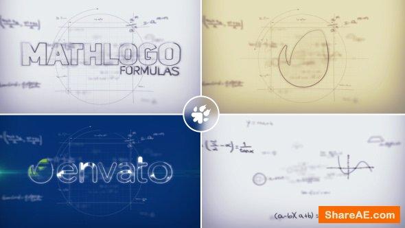 Videohive Math Formulas Logo Reveal