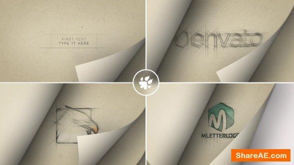 Videohive Page Flip Sketch Logo