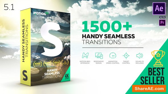 Videohive Handy Seamless Transitions | Pack & Script V5.1 [Cracked]
