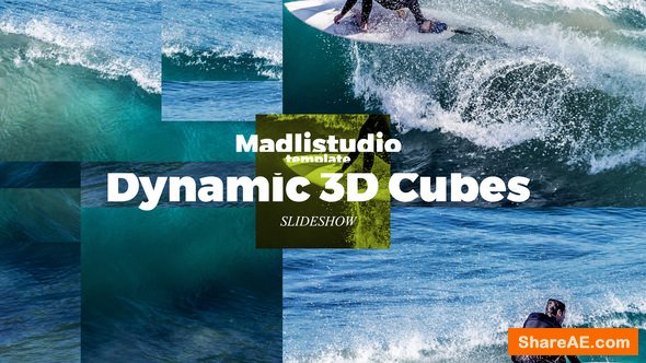 Videohive Dynamic 3D Cubes Slideshow