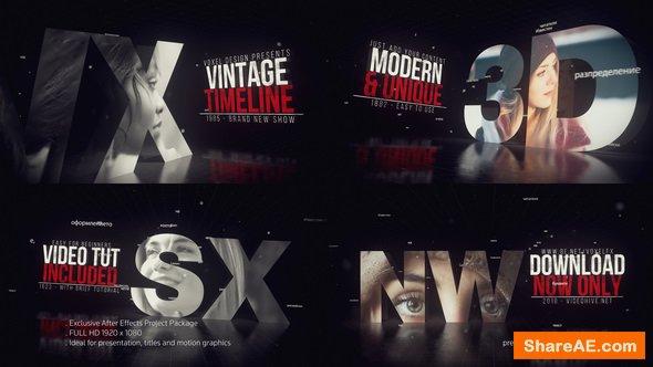 Videohive Vintage Timeline Title