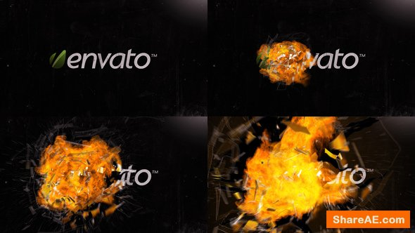 Videohive Explosion - Glass & Fire