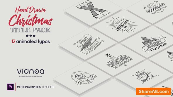 Videohive Hand Drawn Christmas Titles - Premiere Pro