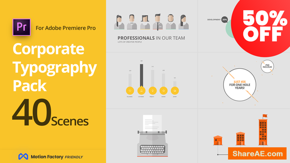 Videohive SEO Corporate Typography Pack - Premiere Pro