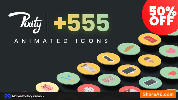 Videohive Pixity Animated Icons - Premiere Pro