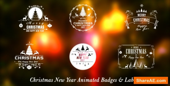 Videohive Christmas New Year Badges
