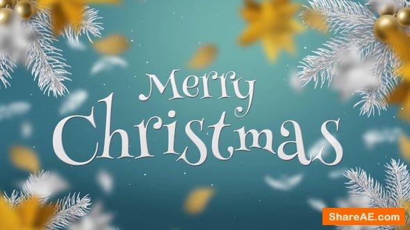 Videohive White & Gold Christmas Slideshow